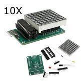10Pcs MAX7219 Module de matrice de points Kit de bricolage 5V 8 * 8 Carte de contrôle SCM pour