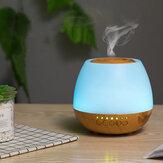400ml Elétrico Ultrasonic Air Mist Humidifier Purifier Aroma Difusor Bluetooth Função com Colorful luzes para Home Car Office