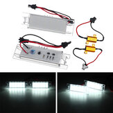 2pcs 12V 18 LED License Number Plate Lights Lamp Bulb For Vauxhall Opel Adam Astra NE8X