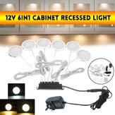 12V 6 in1 Side Outgoing Line Cabinet Incasso LED Cucina Light 200LM Spina UK