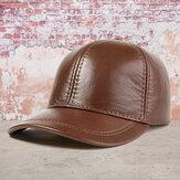 قبعة من جلد البقر حقيقية للرجال في الهواء الطلق عارضة أعلى طبقة قبعة بيسبول من جلد البقر