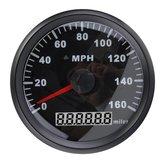 85MM Черная нержавеющая сталь GPS Спидометр 0-160MPH Для Авто Грузовик мотоцикл