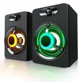 SADA V-188 Colorful luz LED 2.0 Altavoz de la computadora Bass Stereo Dual Speakers para PC Portátil para PC