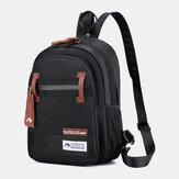 Men Nylon Waterproof Multi-carry Crossbody Bag Chest Bag Sling Bag Backpack