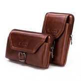 5-6.5 Inches Cellphone Genuine Leather Retro Waist Bag
