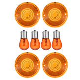 4pcs Amber Turn Signal Lights Lens Cover with Bulbs For Harley Touring Road King VRSC