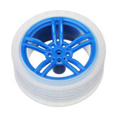 4Pcs 65*27mm Blue Rubber Wheels for TT Motor  Smart Chassis Car Accessories