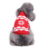 Christmas Snowflake Pet Dog Cat Autumn Winter Sweaters Warm Pullover Hoodie Costume