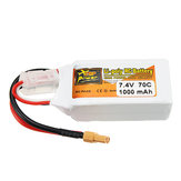 ZOP Power 7.4V 1000mAh 70C 2S Lipo Bateria Plugue XT30