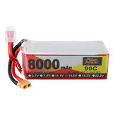 ZOP Power 14.8V 8000mAh 90C 4S Lipo Battery XT60 Plug for RC Racing Drone