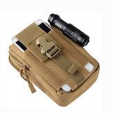 5,5 / 6 pouces hommes taille tactique sacs cas de téléphone portable de sport en plein air