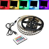 1M 2M 3M 4M Waterproof 5050 RGB LED USB Strip Light TV Backlilghting Kit + 24Key Remote