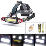 XANES 1300LM 2 x T6 LED COB Аккумуляторная батарея 18650 Battey Headlamp Head Light Torch