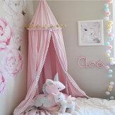 कपास बच्चे को बिस्तर पर चंदवा बिस्तर बिस्तर मच्छर नेट पर्दा बिस्तर गेंद दौर Dome तम्बू मच्छर नेट