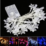 Battery Powered 30LEDs Star Shaped Indoor Fairy String Light for Christmas Party Patio DC4.5V