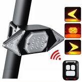 信号灯自転車自転車テールライトリモコンターンUSB充電可能500mAh