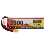 ZOP Power 11.1V 3300mAh 100C 3S Lipo Battery XT60 Plug for VRX RH818 RC Car