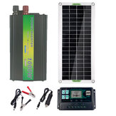 220V Solar Power System 30W Solar Panel Battery Charger 1000W Inverter USB Kit Complete 10/40/50 / 60A Controller 220V Home Grid Camping