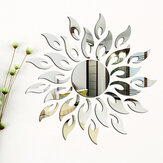 3D miroir soleil fleur Totem amovible Wall Sticker Decal Home Room Decor