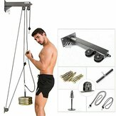80KG Fitness DIY Pulley Cable Machine Biceps Triceps Hand Strength Trainning Home Gym Workout Tools