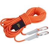 XINDA 9,5 мм 12KN На открытом воздухе Профессиональный походный скалолазание Веревка Высокопрочный защитный шнур