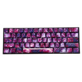 104 клавиши Фиолетовый звездный Sky Набор колпачков OEM Профиль ABS Двухцветные литые колпачки для Механический Клавиатура