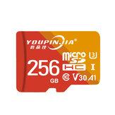 YOUPINJIA 64GB / 128GB / 256GB Tarjeta de memoria TF Tarjeta de almacenamiento de datos de alta velocidad Tarjeta MP4 MP3 para grabadora de conducción Cámara Altavoces de tarjeta