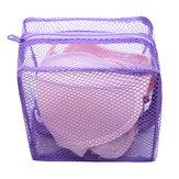 ब्रा और कपड़े पहनने के लिए मेष कपड़े धोने की थैली वॉशिंग कपड़े जिपर ठोस नेट