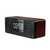 bluetooth 5.0 Wooden Speaker Alarm Clock Support TF Card/USB/AUX/ FM Radio