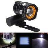 XANES ZL01 800LM T6 Light Bike Trzy tryby Zoomable Night Riding USB Rechargeable Waterproof