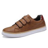 Menico Men Microfiber Leather Non Slip Hook Loop Soft Casual Sneakers