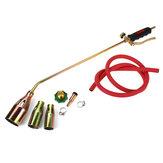 Weed Burner Kit Shrub Grass Killer Butane Gas Torch Garden Tool with 3 Nozzles