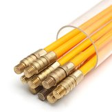 10Pcs 1Mx3mm Fiberglass Cable Puller Running Cable Wire Kit Coaxial Electrical Cable Installing Rod