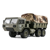 2 Batterien Fayee FY004A mit Segeltuch 1/16 2.4G 6WD Rc Proportionalsteuerung US Army Military Truck RTR Modell