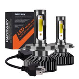 Infitary F2 Voiture COB LED Phares Ampoules Projecteur antibrouillard H1 H3 H4 H7 H11 9005 9006 12V-24V 72W 8000LM 6500K Blanc