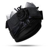 Women Vintage Ethnic Style Indian Side Flower Turban Cap
