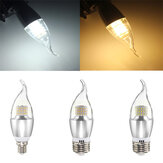 E14 E12 E27 7W 60 SMD 3014 LED White Warm White Glass Candle Lamp Bulb Non-Dimmable AC 85-265V