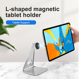Bakeey Magsafe bureau tablette support de téléphone support en alliage d'aluminium support de diffusion en direct de bureau pour Smartphone iPad