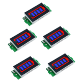 5Pcs 1S-8S Single 3.7V Lithium Battery Capacity Indicator Module 4.2V Blue Display Electric Vehicle Battery Power Tester Li-ion