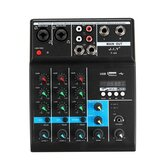 Professional 4 Channel Audio Mixer bluetooth 5.0 USB Computer Reverberation DJ Controller Stage Lifeshow Mixing Console