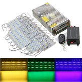 70PCS 5 Colors SMD5050 LED Module Store Strip Light Front Window Lamp + Power Supply + Remote DC12V