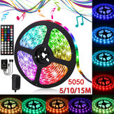 5050 RGB LED Strip Light String Tape + IR Remote Control Lampu Dekorasi Natal Halloween Dekorasi Natal Izin Lampu Natal