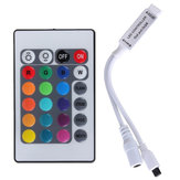 5pcs DC12V 3528 5050 RGB LED Strip Light Controller with 24 Key Mini IR Remote Control