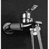 Moderno bagno rubinetto vasca doccia a parete rubinetto montaggio a bagno testa del mixer valvola rubinetto della doccia