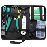 11pcs Network Combination PC Cable Wire Tester Crimping Cutter Punch Tools Kit Set