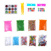 Slime Stuff Charm Fishbowl Beads Glitter Pearls Slime Mylar Flake Slime Containers With Foam Balls