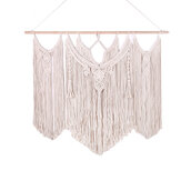 Stor vevd Macrame Wall Hanging Cotton Bohemian Tapestry Room Decor