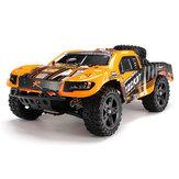 Remo 1621 1/16 2.4G 4WD escovado Rc carro off-road curso de curta duração caminhão cor laranja