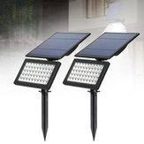 5W Solar Power 50 LED Foco Impermeable aplique de pared para jardín al aire libre Jardín de césped