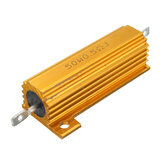50W 0.5R 1R 2R 2.2R 4R 6R 8R 10R 20R Ohm Resistor de Bobinado de Potencia de Cáscara de Aluminio